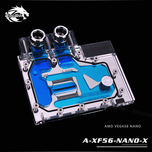 Bykski wykorzystanie bloku wody dla AMD XFX VEGA56 NANO/szafirowy puls Radeon RX Vega56 8G HBM2/pełna pokrywa GPU radiator miedziany blok