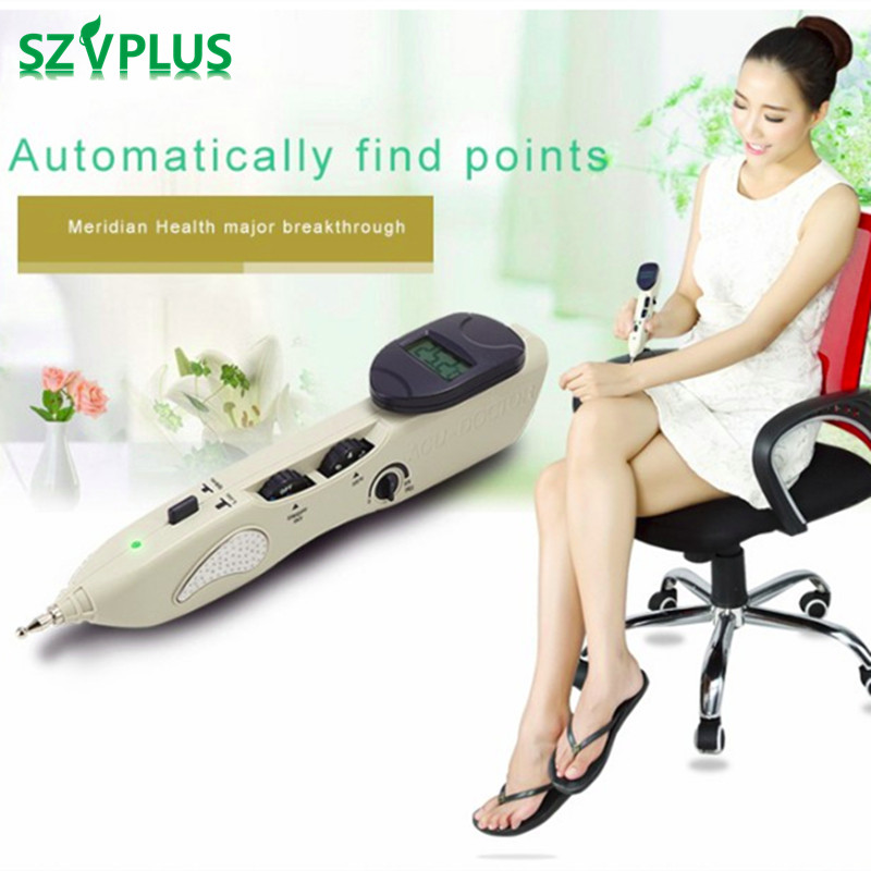Rechargeable Acupuntura Pen Point Detector Electronic Acupuntura Massage Pain Therapy electric Acupuncture Meridian Pen LY-508B english spanish chinese version ly 508b detector lcd electronic acupuncture device needle auto find massage points stimulator