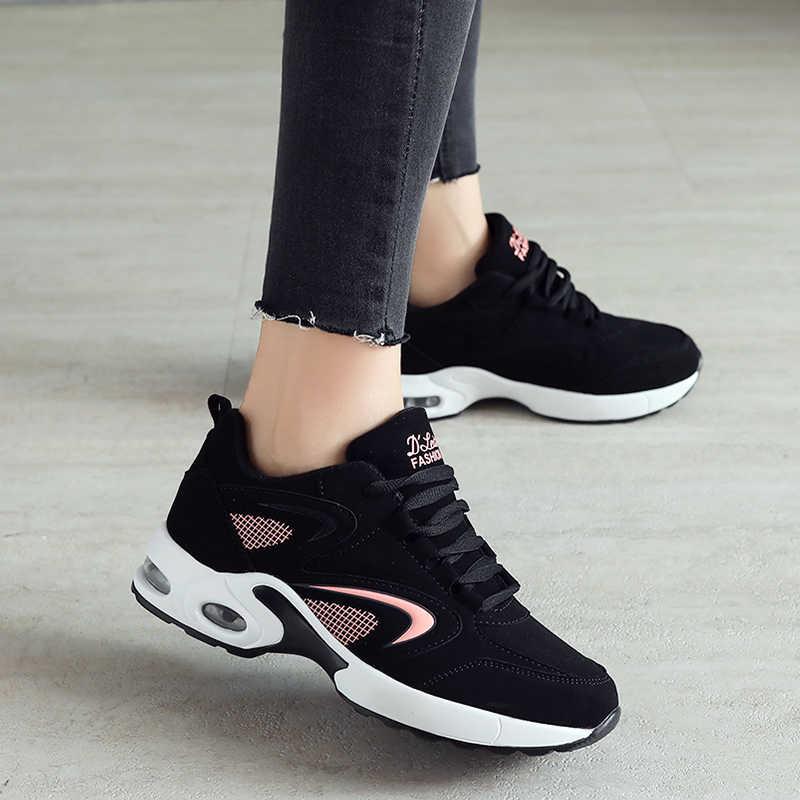 b877108e9 Спортивная обувь для женщин беговые кроссовки Спорт Тренажерный зал обувь  женские стильные кожаные удобные подошва прогулочная
