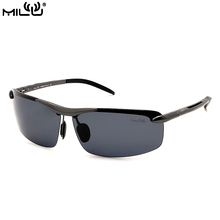 MILU Mens Sunglasses Brand Designer Aluminum Rimless Polarized Sport Fishing Outdoor Avaitor Sunglasses UV400 Lens S1830