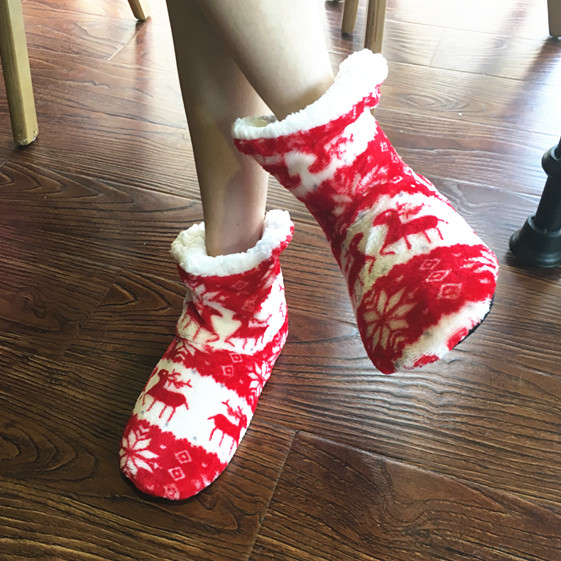 Winter New Women's Warm Cotton Shoes Snowflake Deer Pattern Indoor Shoes Soft Bottom Non-slip Floor Home Slipper winter new women s warm cotton shoes snowflake deer pattern indoor shoes soft bottom non slip floor home slipper