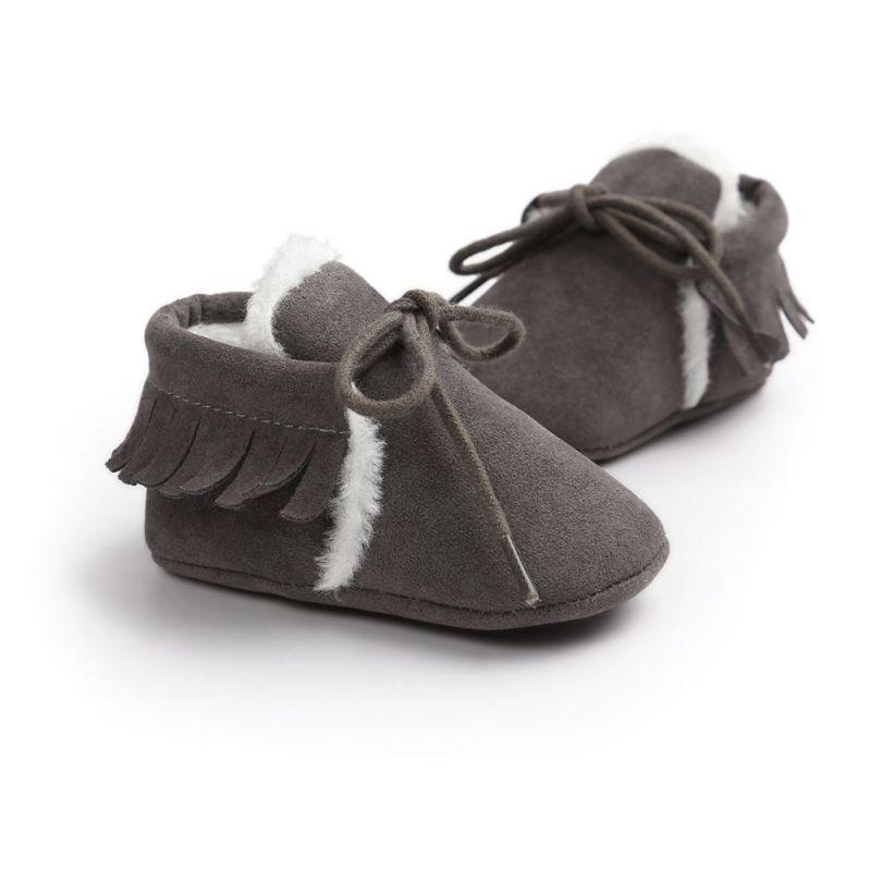 Quasten PU Leder Babyschuhe Baby Mokassins Neugeborenen Schuhe Weiche - Babyschuhe - Foto 3