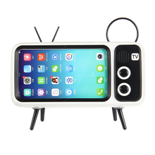 Wireless Bluetooth Speaker Portable Stereo Sound Box with MIC Support Handsfree TF Card U Disk Phone Holder Retro стоимость