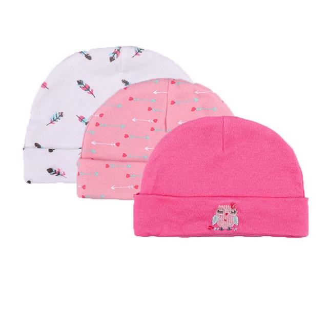 2019 Kiddiezoom Unisex Heißer Verkauf Baby Caps 3-pack Für Jungen Mädchen Neugeborenen Jungen Mädchen Hüte Infant Caps 0 -3 Monate Auswahlmaterialien