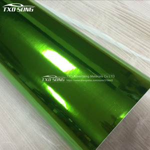 Image 2 - The newest High stretchable mirror green Chrome Mirror flexible Vinyl Wrap Sheet Roll Film Car Sticker Decal Sheet