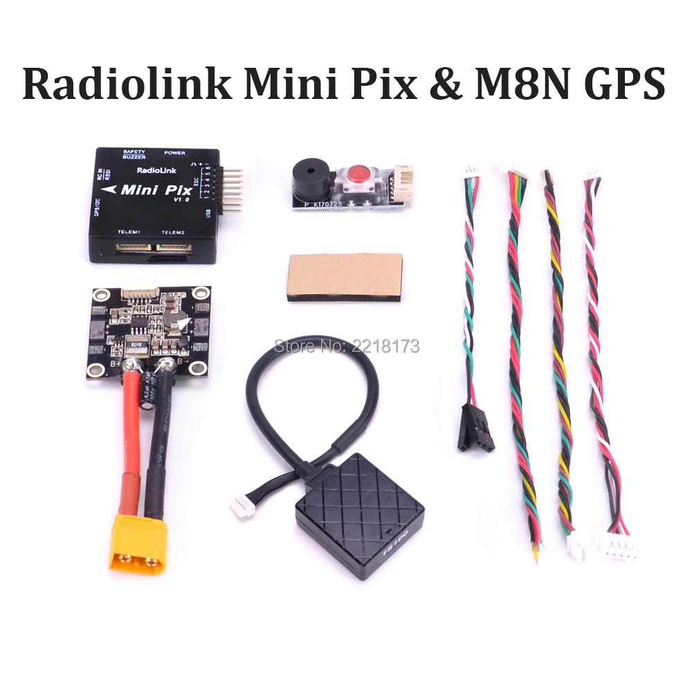 Radiolink MINI PIX Pixhawk basic configuration flight controller TS100 M8N 8N GPS Model for RC Racing Drone FPV Quadcopter radiolink mini pix gps flight control by software atitude hold for rc racer drone multicopter quadcopter