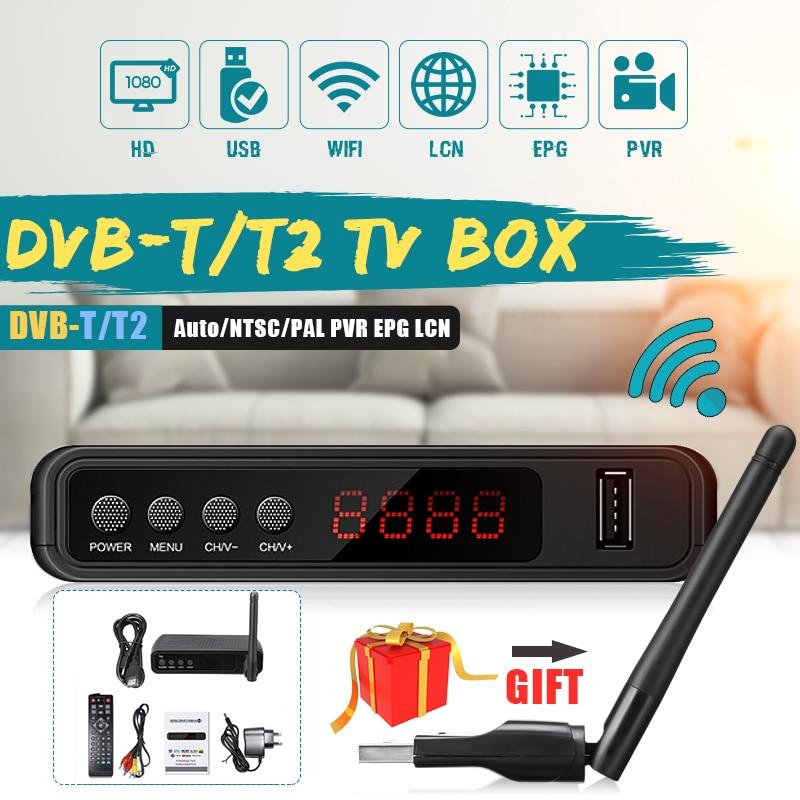 USB2.0 DVB T2 TV Tuner Wifi DVB-T2 Empfänger Full-HD 1080P Digitale Smart TV Box Unterstützung MPEG H.264