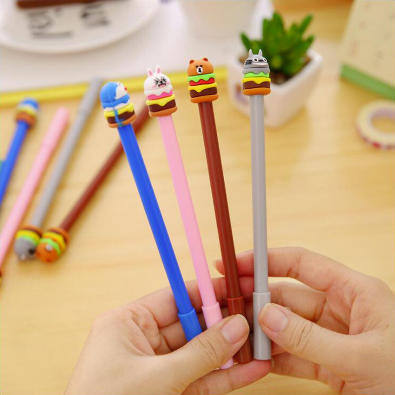 Strange Animal Shape Gel Pen DIY Office Stationery And School Supplies Smooth Writing Black And Blue Ink 0.5mm Pen 1PCS