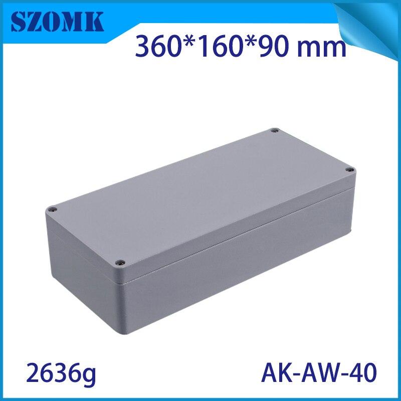 Boîte de jonction étanche en aluminium moulé sous pression pour l'électronique PCB conseil conception bricolage boîtier de projet d'instrument for360x120x90MM