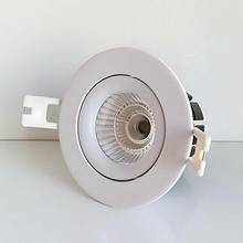 30pcs/lot 7W 12W white shell LED downlight COB dimmable AC240V 220V 110V spotlight ceiling lamp Warm /Cold White Free Shipping