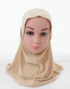 Image 4 - Kinder Kinder Mädchen Islamischen Muslimischen Schal Schule Strass Headwear Arabischen Turban Headwrap Underscarf Ramadan Nahen Osten