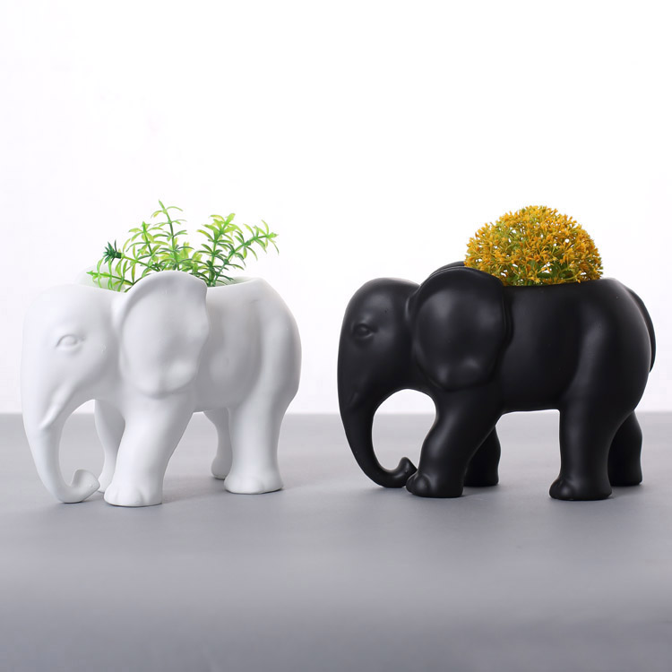 20cm Resin elephant vases home decor book shelf elephants for living room african elephant