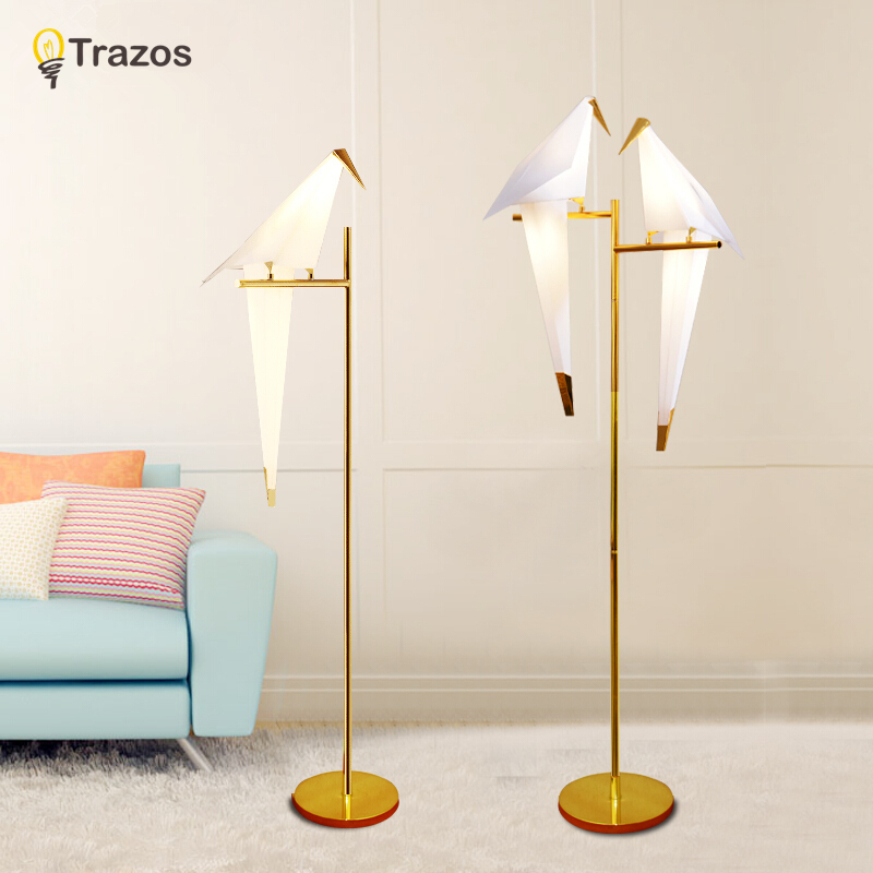 Modern floor lamp for living room european fabric for Living lighting floor lamps