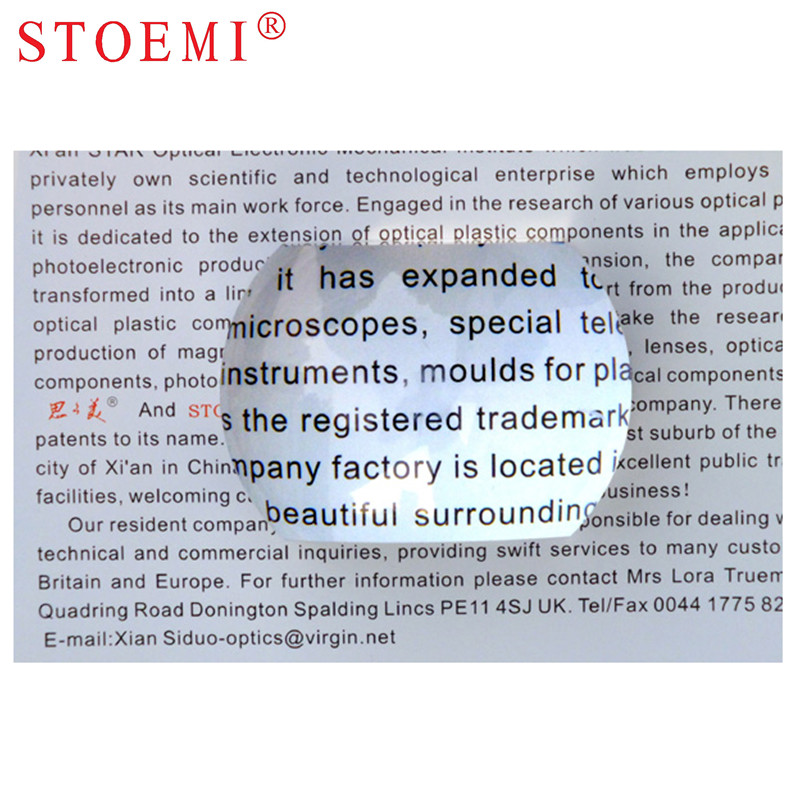 STOEMI 6922 Cuttered Dome Magnifier Diameter 65mm Biplane Paperweight Vision Aids Magnifier for Reading Arts Crafts in Magnifiers from Tools