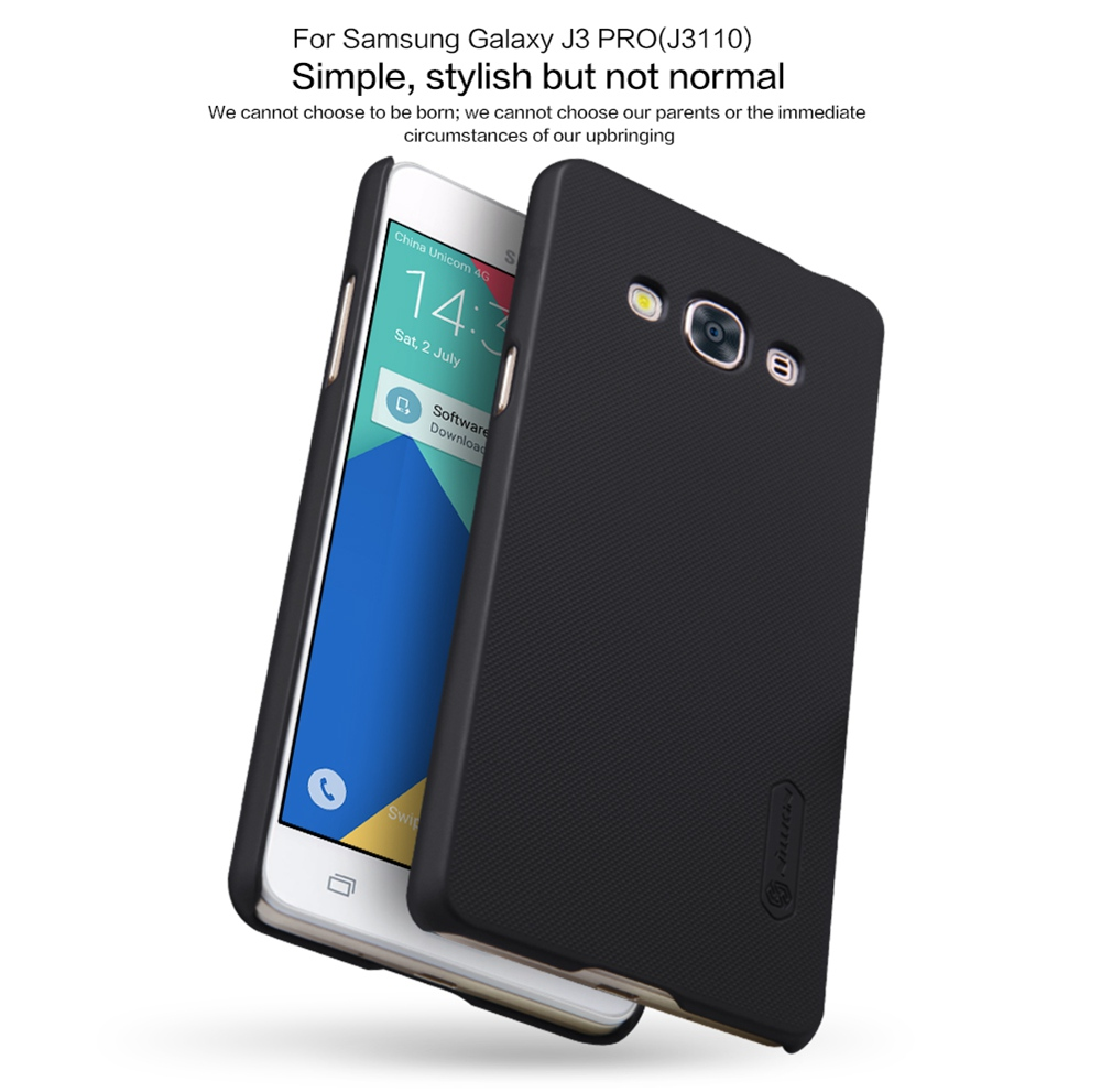 NILLKIN Frosted Shield Case For Samsung J3 2016 Case Hard PC Back Cover With Gift Screen