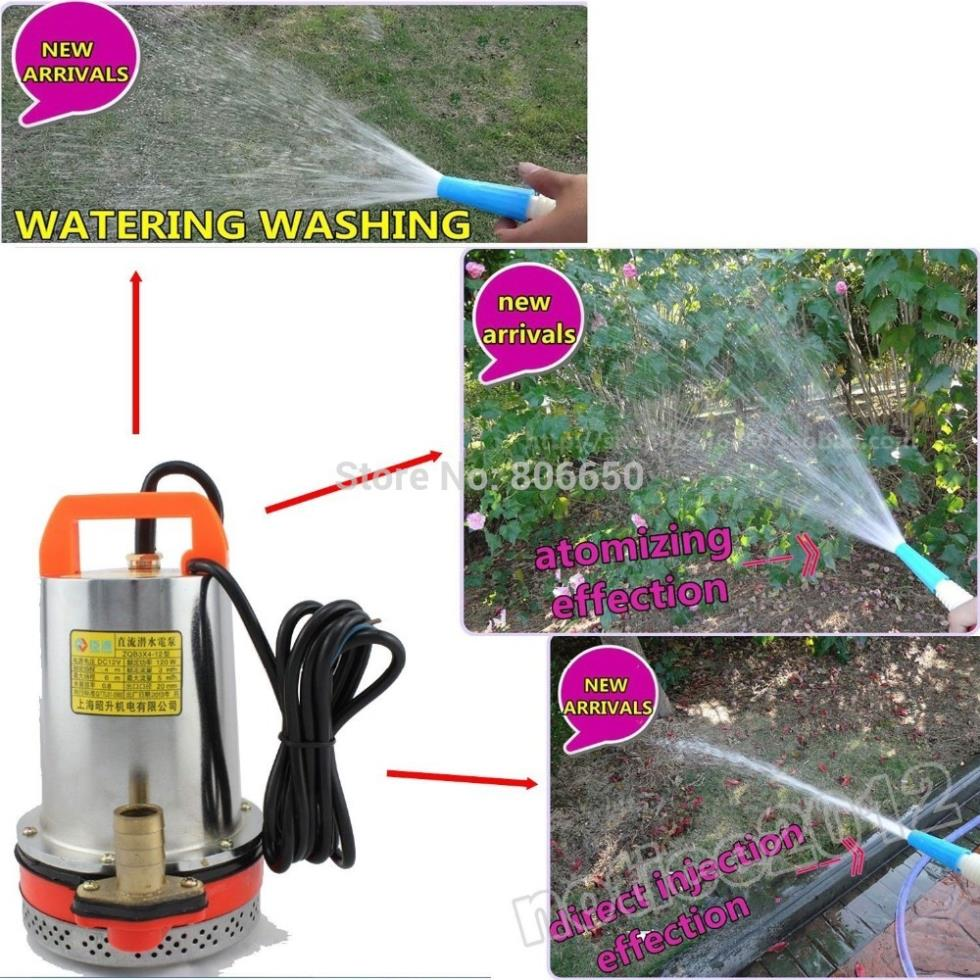 DC 12V  water pump Submersible Fountain for watering flower washing car,free shipping 12v dc electric mini water circulation pump brushless motor submersible pump for hydroponics medical cooling 280l h car styling