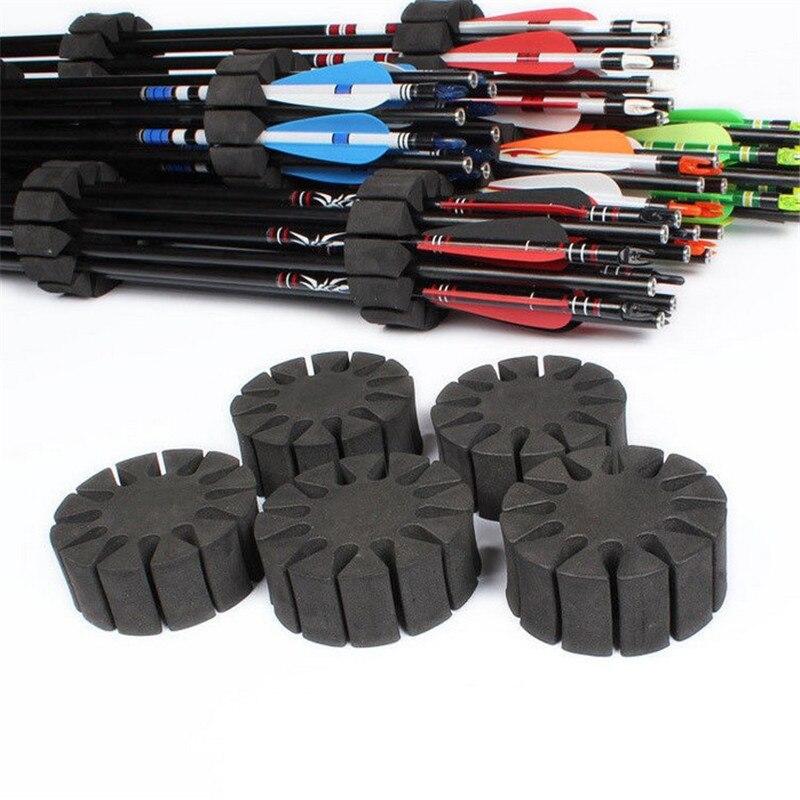 3pcs Black Sponge Arrow Separator Bow And Arrow Accessories Arrow Holder EVA Foam Quiver Protection Spliter Shelf Bow Practice