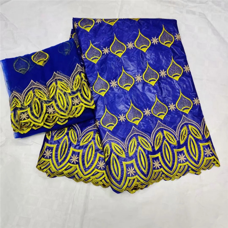 African guinea brocade fabric African bazin riche getzner with beads high quality Nigerian gele headtie 5