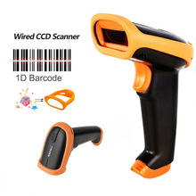 RD-S3 Portable Handheld CCD Barcode Scanner Wired 1D bar Code Reader USB cable bar code Scanner for Inventory & screen payment