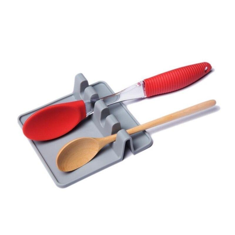 1PC Multifunction Ladle Spoon Rest Holder Utensil Organizer Spatula Holder Racks Kitchen Storage Shelf