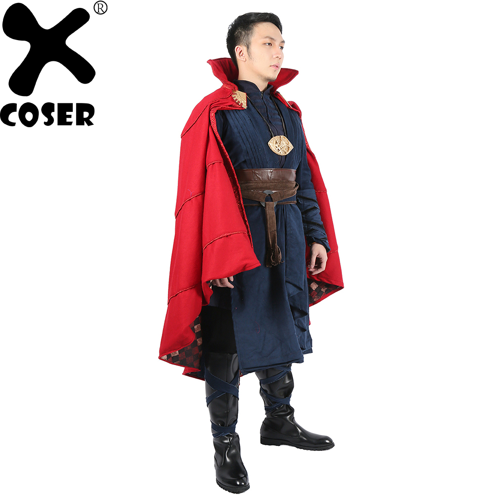 XCOSER Doctor Strange Costume Marvel Superhero Cosplay Completed Outfit Suit Halloween Party Costume for Adult Men Male Hot Sale