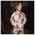 2017 весна лето kikikids бобо выбирает лев лягушка с длинным рукавом девочка мальчик свитер футболка брюки дети для детей набор одежды свадебные платья