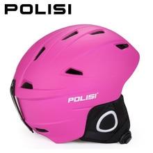 POLISI Professional Adjustable Ski Skiing Helmet PC+EPS Snow Snowboarding Safety Helmet Men Women Winter Outdoor Sports Helmet