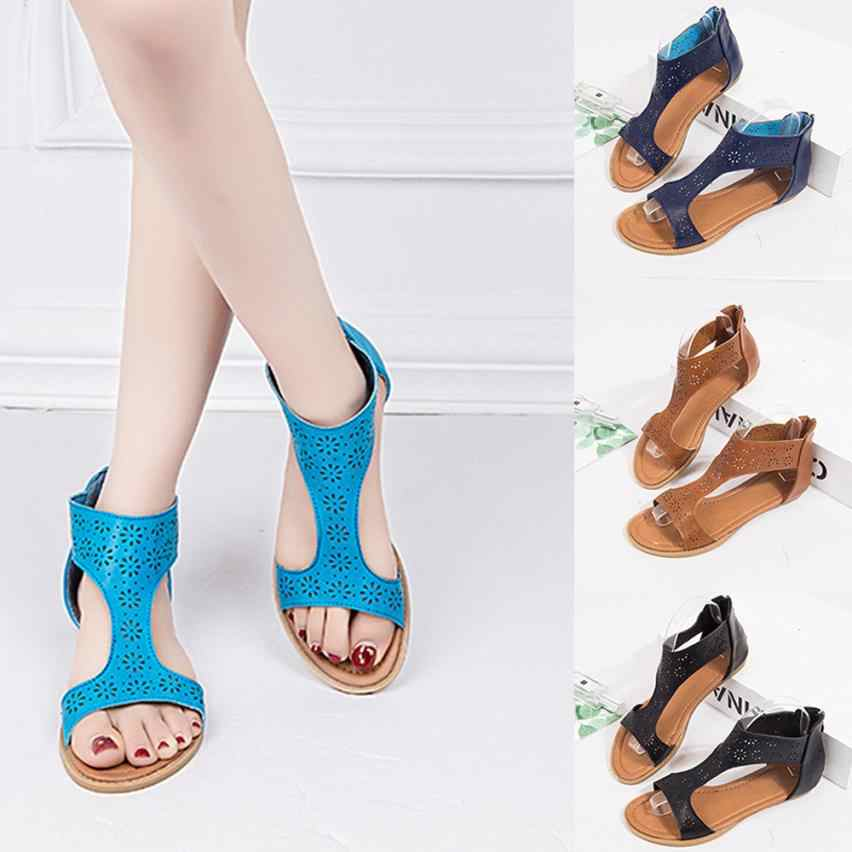 17104b119 SAGACE Shoes Sandals Gladiator Sandal Back Zip Closure Insole Sandal  Closure and Moderate Heels Casual sandals