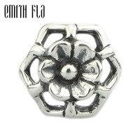 Sterling silver 925 Silver Charm Hạt Bí Ngô Flower Jewelry Làm Phụ Kiện TỰ LÀM Hạt Mặt Dây Fit Gốc Châu Âu Vòng Tay