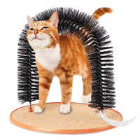 Good Arch Pet Cat Self Groomer With Round Fleece Base Cat Toy Brush Toys For Pets