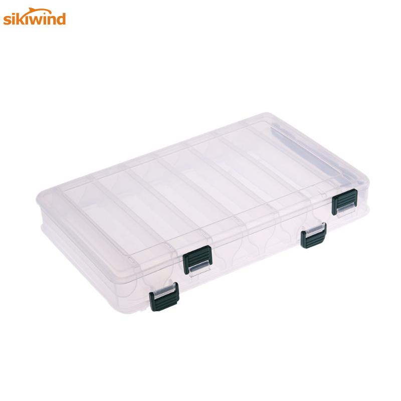 14 Compartments Double Sided Plastic Multifunction Storage Case Fishing Lures Bait Tackle Box Fly Carp Fishing Accessories Pesca 10w n jk rf coaxial attenuator dc 3ghz 50 ohm 1db 3db 5db 6db 10db 15db 20db 30db free shipping