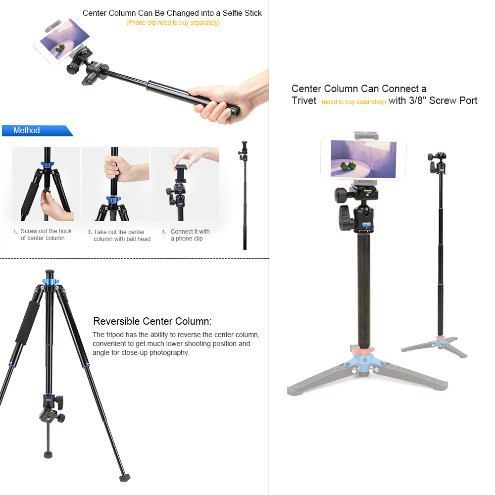 Benro IS05 Tripod Reflexed Monopod Selfie Stick Mini Portable Tripod For Camera With H00S Ball Head 5 Section DHL Free Shipping sirui a 1205 a1205 tripod professional carbon fiber flexible monopod for camera with y11 ball head 5 section free shipping