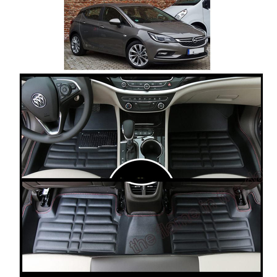 free shipping waterproof wearable car floor mat for opel Astra K Buick Verano Hatch 2015 2016 2017