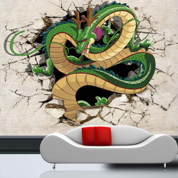 Anime Bedroom Ideas Bedroom Wall Decor Crafts Bedroom Design Of Pop Black And White Bedroom Design Inspiration: 3D Dragon Photo Wallpaper Dragon Ball Wallpaper Custom