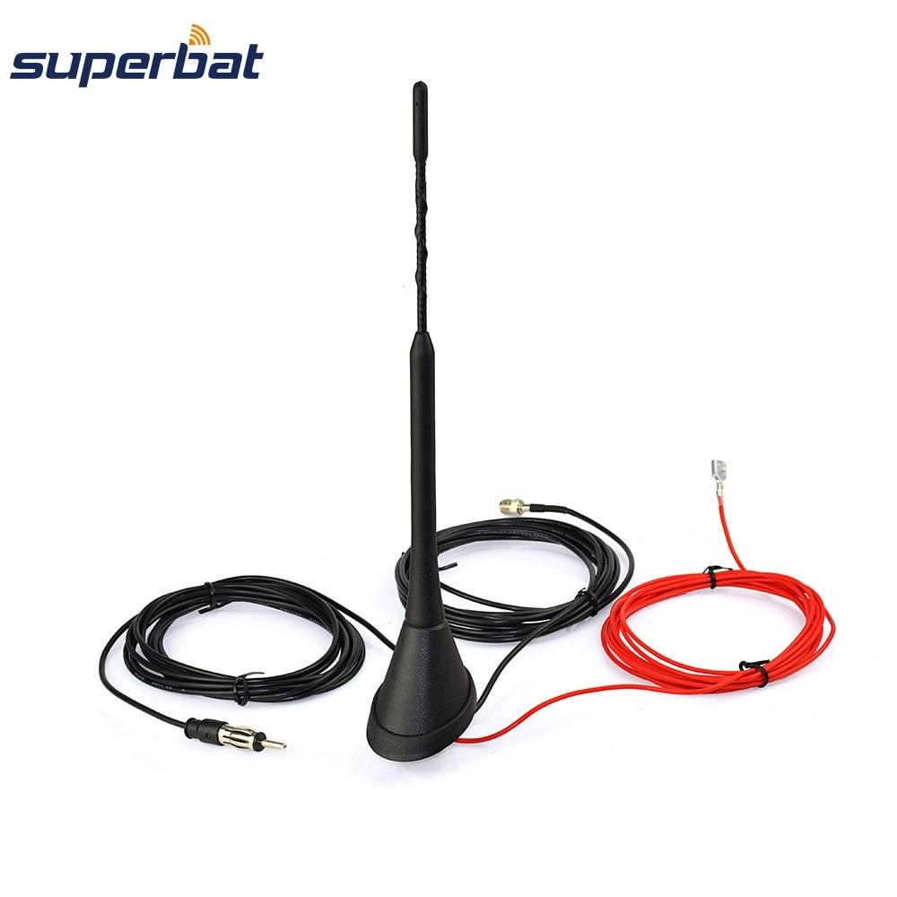 Superbat Universal Dachmontage Digital DAB Antenne mit Verstärker für DAB DAB + AM / FM Autoradio Autoantenne FME Stecker