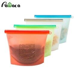 4 unids/set reutilizable de vacío de silicona bolsa de comida sellador congelador leche fruta almacenamiento de carne bolsas nevera contenedores de alimentos Indesit C bolsas