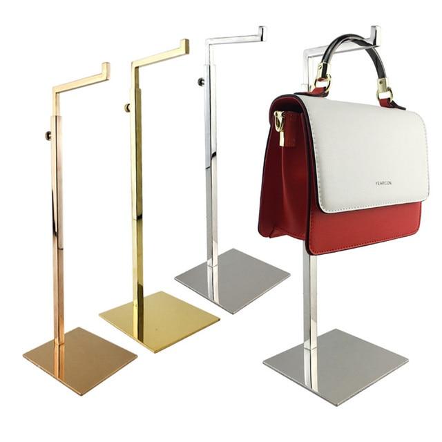 Free Shipping Shiny Polished Anium Gold Hanging Bag Handbag Hanger Holder Display Stand For Handbags