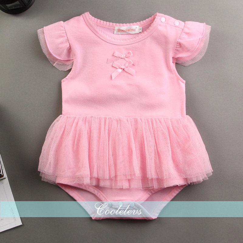 Short Sleeve Cotton Baby Girl Jumpsuit Overall Lovely Angel Wing Romper Toddler Dress Summer One-Piece Onesie for 0-24M Infant