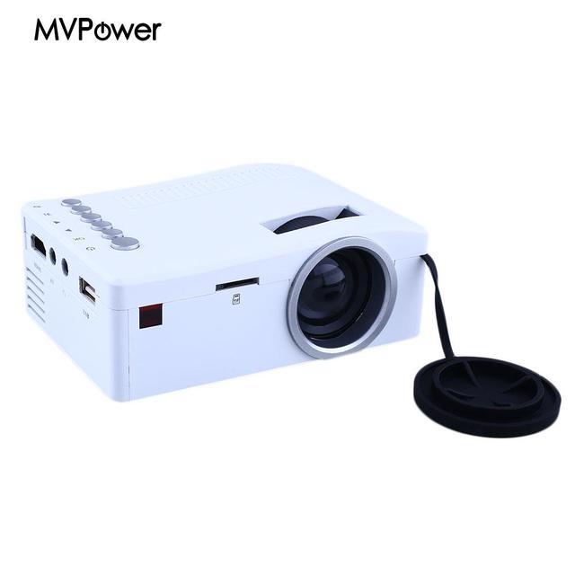 Home Cinema Theater 1080P HD Multimedia Mini LED Projector HDMI AV TV TF 2Color