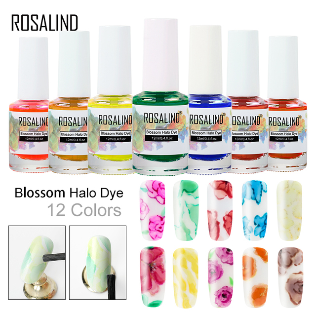 ROSALIND Blossom Nail Gel Polish 12ML Semi Permanent UV Lamp Gel Lacquer Design Of Nails Art Manicure Halo dyeing Blooming Gel