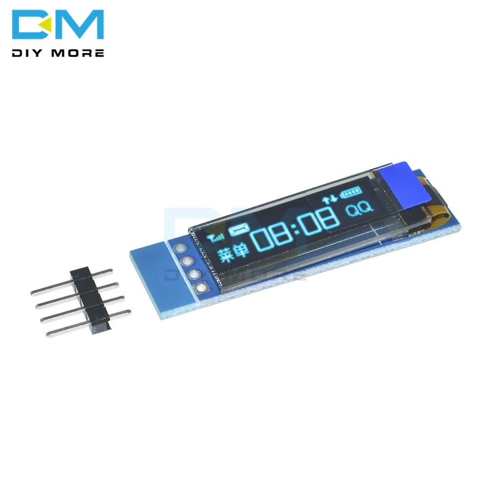 0.91 pouces 128x32 I2C IIC série bleu OLED Module d'affichage à cristaux liquides 0.91