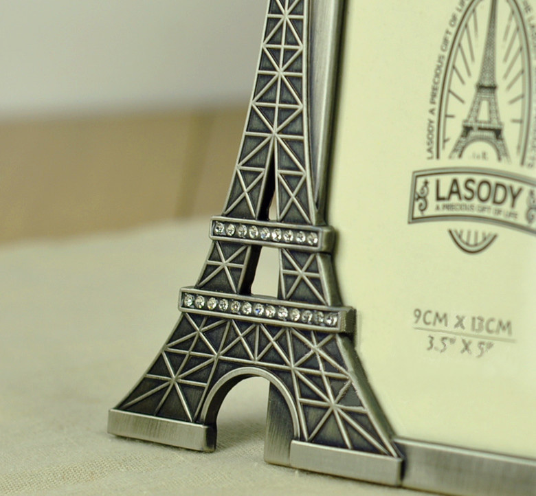 metal art craft home decoration vintage eiffel tower love photo frame miss you birthday gift free shipping in frame from home garden on aliexpresscom