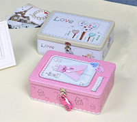 Hot Sale Tin Cindy Tea Box Jewelry Boxes Large Size Storage Organizer Case Iron Box Candy