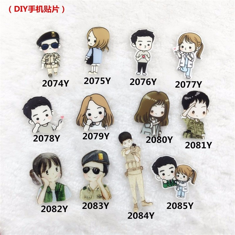 Cartoon decoration acrylic Badge Shirt Collar Pin Brooch cute Lapel Pin brooch brooches XZ118