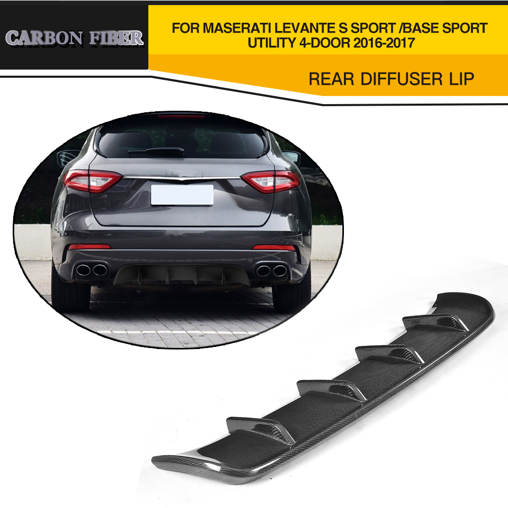 Углерода firber и frp автомобилей Стиль Racing задний бампер диффузор для губ для Maserati LEVANTE 4 двери 2016 2017