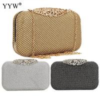 0d73daeb2 ... Strass Da Embreagem Bolsa Festa Casamento do Sexo Feminino. Luxury  Evening Crystal Bag Silver Golden Hollow Chic Rhinestone Clutch Evening Bag  Female ...
