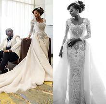 Роскошное Африканское кружевное свадебное платье 2020 с винтажным
