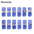 10 pcs New 3d Limpar Liga Rhinestone Bow Tie Nail Art Decoração DIY Charme Acessórios Jóias Prego