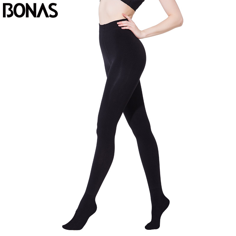 BONAS Autumn Winter Fashion Explosion Models Plus Thick Velvet Warm Seamlessly Integrated Inverted Cashmere Leggings Warm Pants