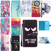 For Fundas Huawei P9 lite Case Flip Cover Painted Stand Leather Case Soft Silicone Back Cover For Huawei P9 lite Phone Cases